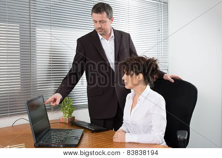 Man and woman at work