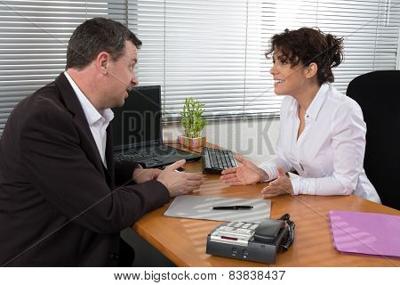 Man and woman at work