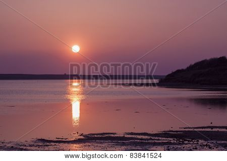 The Sun Goes Down Over The East Fleet In Dorset
