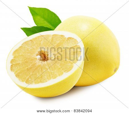 Pomelo Or Chinese Grapefruit Isolated On The White Background