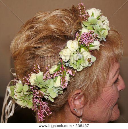 Bride with head piece