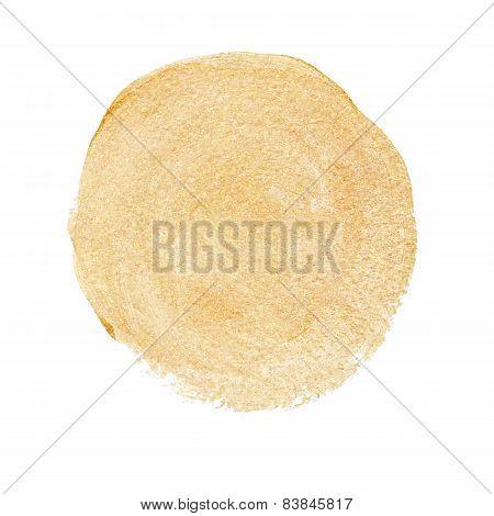 Gold acrylic paint vector circle