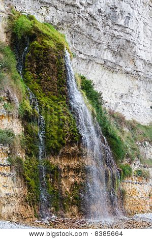 Small Waterfall In Normandy