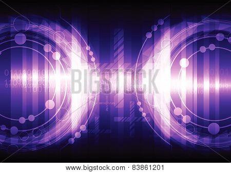Violet Abstract Background Design