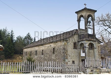 Old orthodox church at Metsovo village, Greece