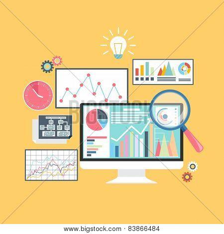 Stock exchange rates on monitors