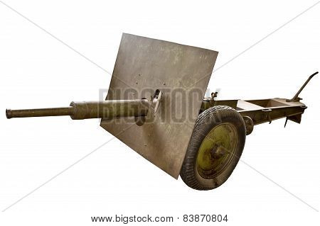 Military Cannon Isolated