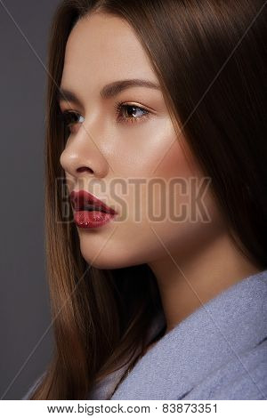 Portrait Of Sophisticated And Luxurious Supermodel With Perfect Skin