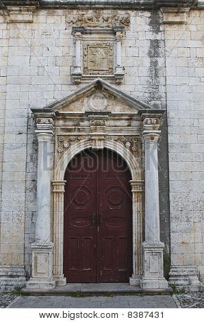 Orthodox Greek church at Lefkada island, Greece