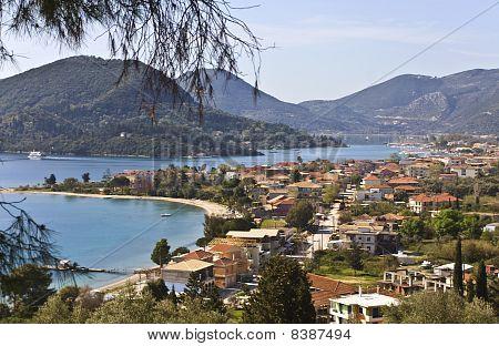 Nydri bay at Lefkada island, Greece