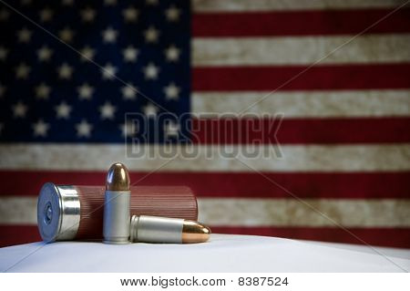 Bullets and US Flag