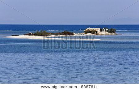 Isle near Lefkada island at Greece