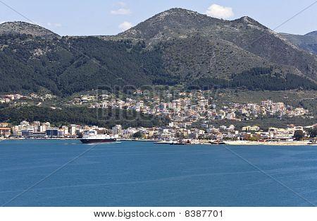 Igoumenitsa harbor at Greece