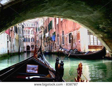 Under the bridge in Venice