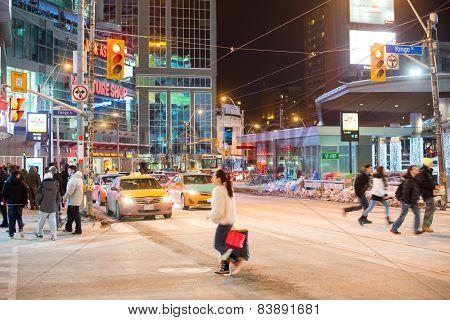 Dundas Square In Toronto,canada