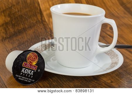 Blended Kona Coffee In K-cup