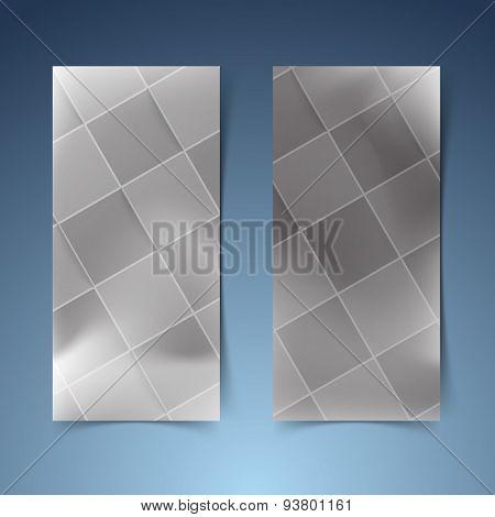 Halftone Black Tile Banner Collection
