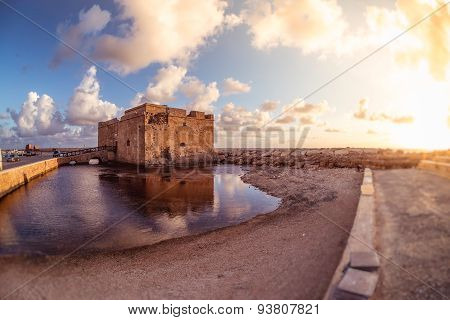 Famous Medieval Castle At Paphos Harbor. Cyprus