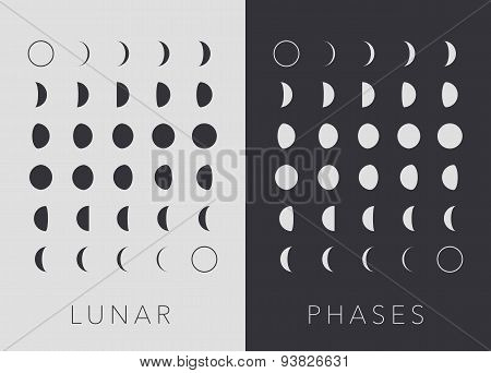 Flat Lunar phases, vector