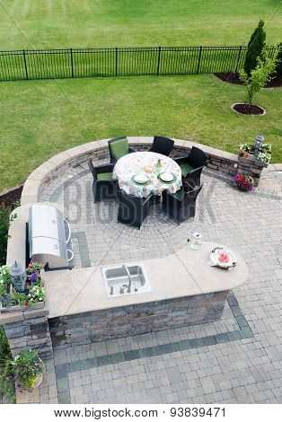 Outdoor Living Area On An Open-air Patio