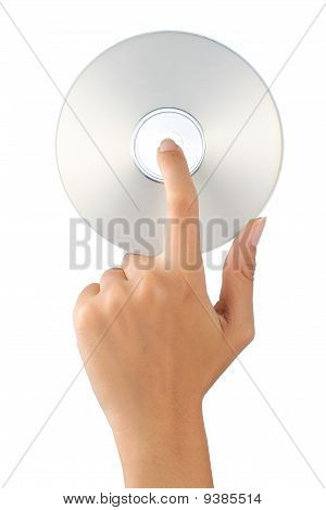 hand holding cd