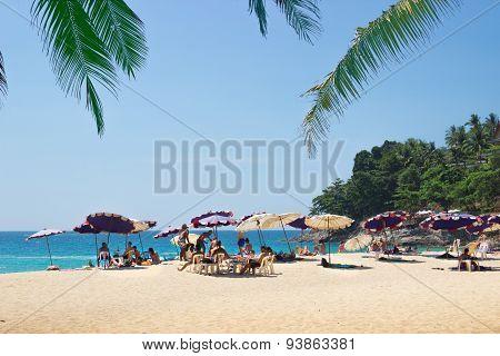 Relax On Beaches Of Phuket. Thailand
