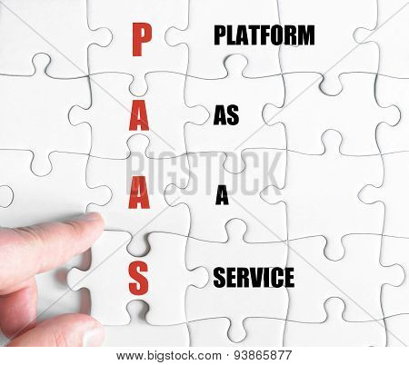 Last Puzzle Piece With Business Acronym Paas