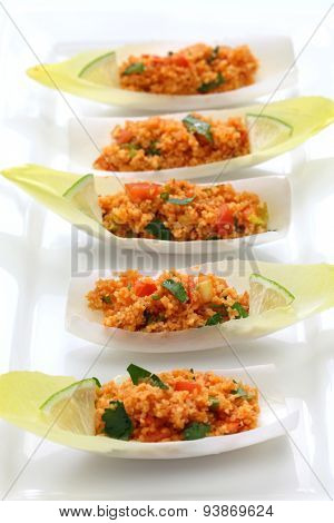 kisir, bulgur wheat salad, turkish cuisine, vegetarian food poster
