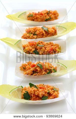 kisir, bulgur wheat salad, turkish cuisine, vegetarian food poster