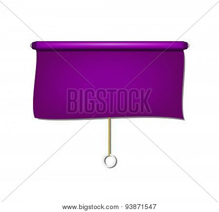 Vintage window sun blind cloth in purple design