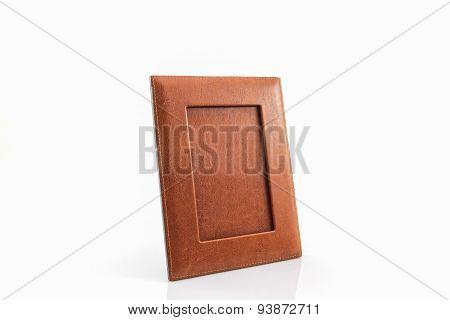 Vintage Leather Picture Frame .