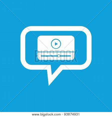 Mediaplayer message icon