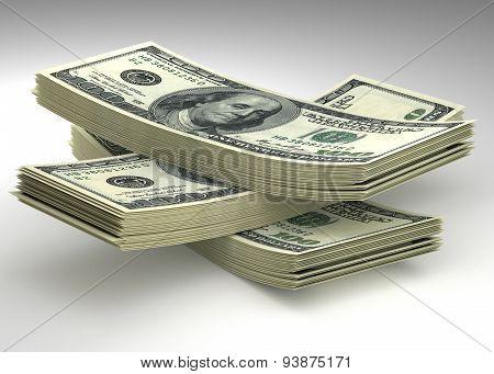 Money Stack. Dollars