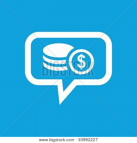 Dollar rouleau message icon