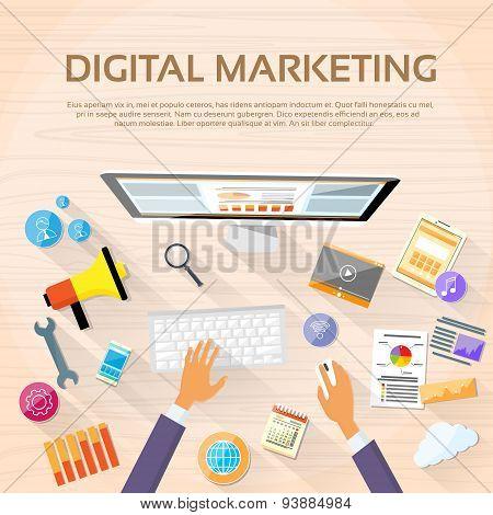 Digital Marketing Workspace Desktop Workstation