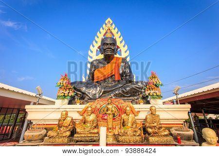 Big Black Buddha Stature In Thailand