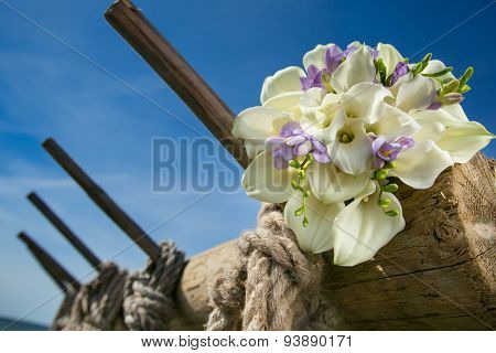 Bridal Bouquet With White Callas
