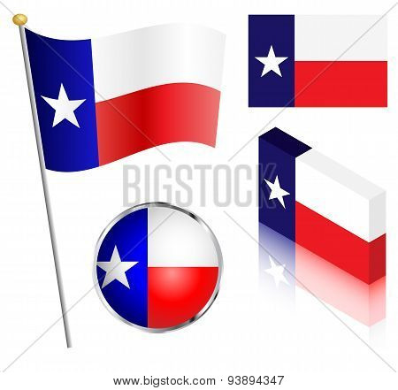 State Of Texas Flag Set