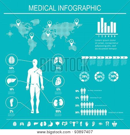 Medical Infographics Elements.