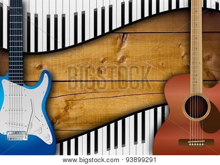 Guitars And Keyboards Background