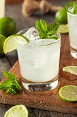 Cold Refreshing Iced Limeade with a MInt Garnish poster