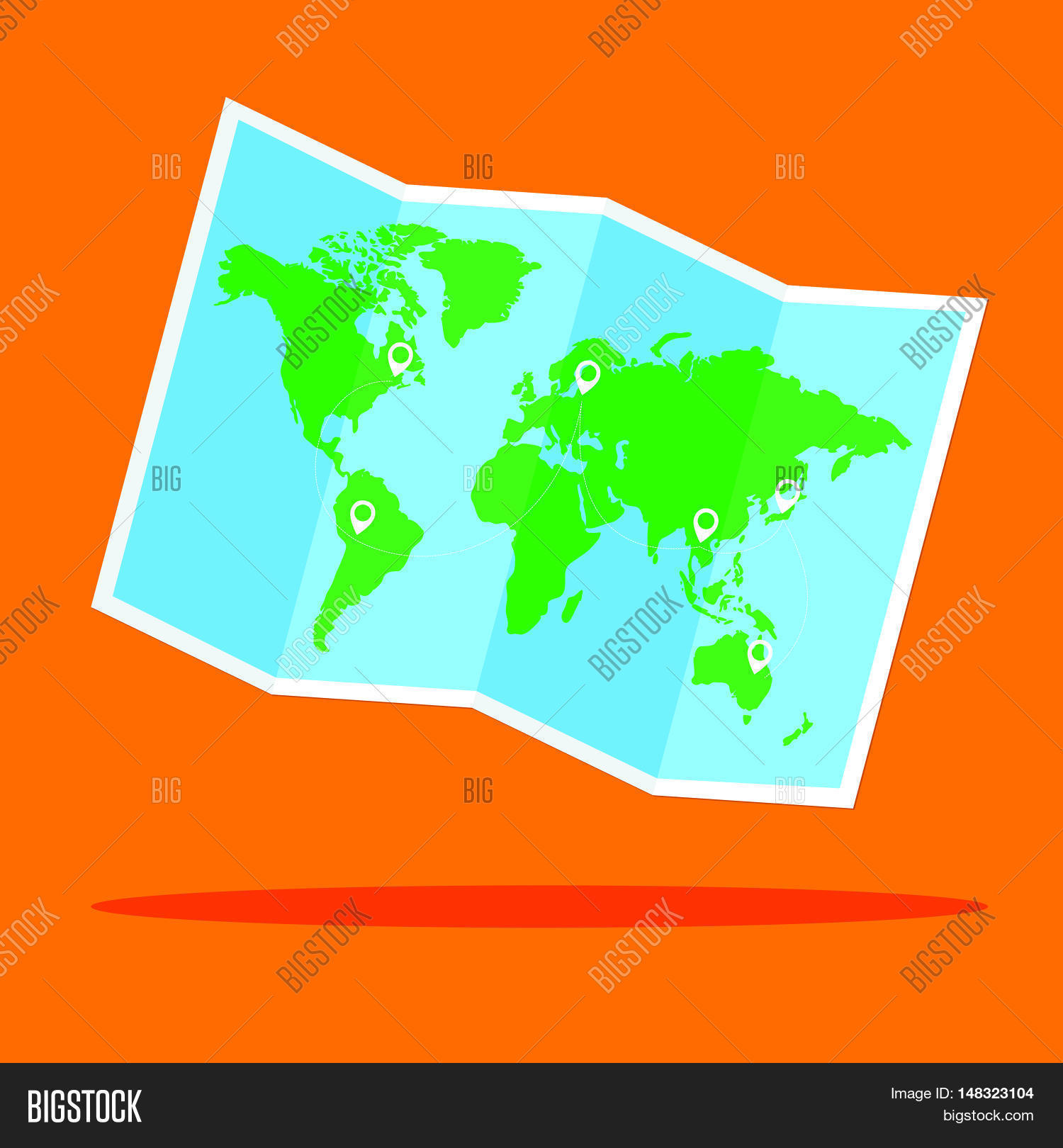 World map vector vector photo free trial bigstock world map vector with location point flat design for business financial marketing banking advertisement commercial gumiabroncs Choice Image