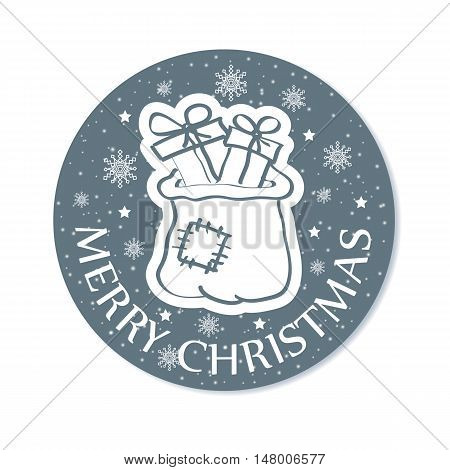 New year or Christmas greeting card. Vector illustration