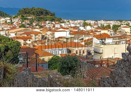 Panoramic view of Nafpaktos town, Western Greece
