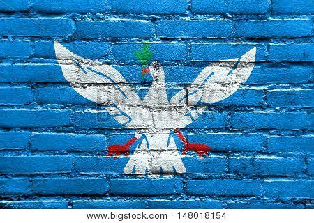 Flag Of Salvador, Bahia, Brazil, Painted On Brick Wall