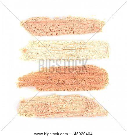 Foundation powder makeup isolated on white