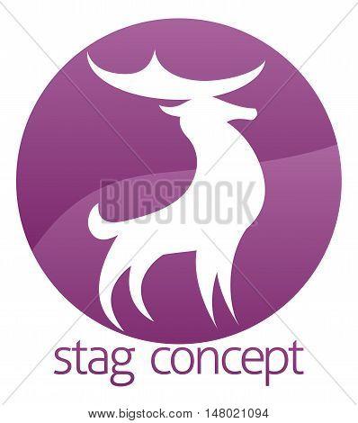 Proud Stag Or Deer Circle