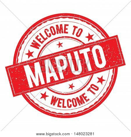 Welcome To Maputo Stamp Sign Vector.