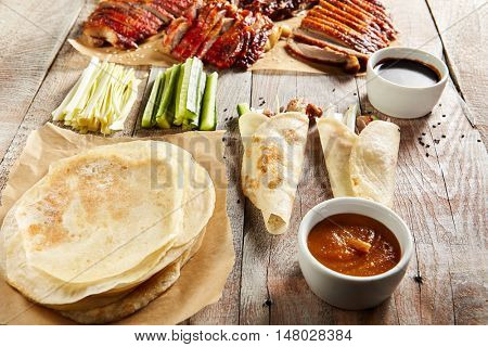 Peking Duck on Parchment with Sauce