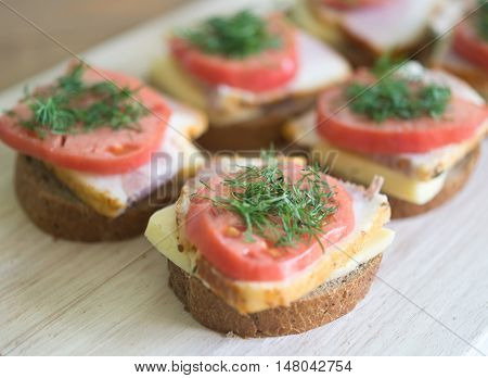 Sandwiches On A Board